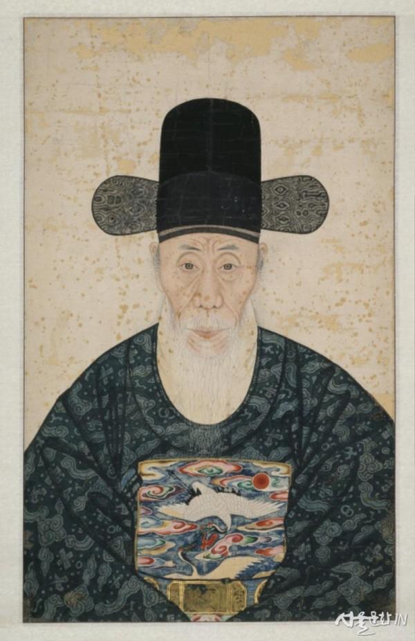 도1. 작가미상, 강세황 초상, 조선 18세기 후반, 종이에 색, 덕수3069.jpg