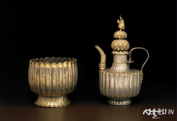 은제 금도금 주자와 받침, 고려 12세기, 보스턴박물관.jpg