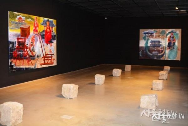 서용선, 정조와 화성축성, 2019, 캔버스에 아크릴채색, 218 ×291cm -1.jpg