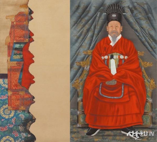 고종어진 추정, 통천관을 쓰고 강사포를 입은 고종 황제의 전신 좌상.jpg