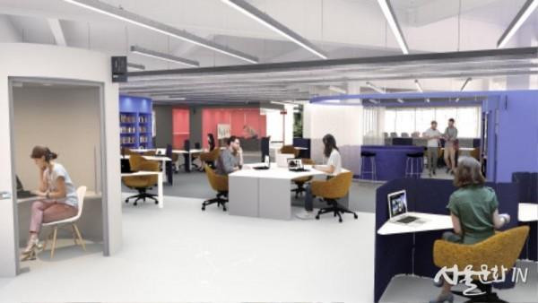 [붙임1] 서울디자인창업센터 공간 투시도 4층 입주공간.jpg