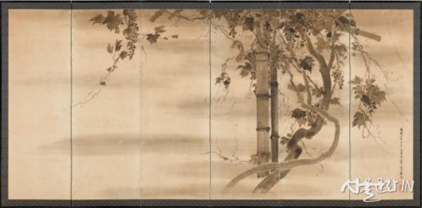 포도다람쥐병풍 우척(구010028).jpg