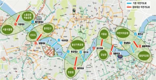 자전거도로 한강교량 현황 및 추가설치 교량 대상.jpg