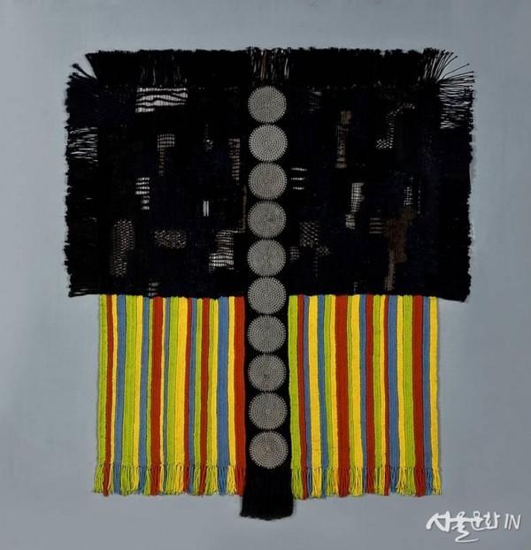 박래현, 작품, 1970-73, 태피스트리, 119.2x119cm, 개인 소장.jpg