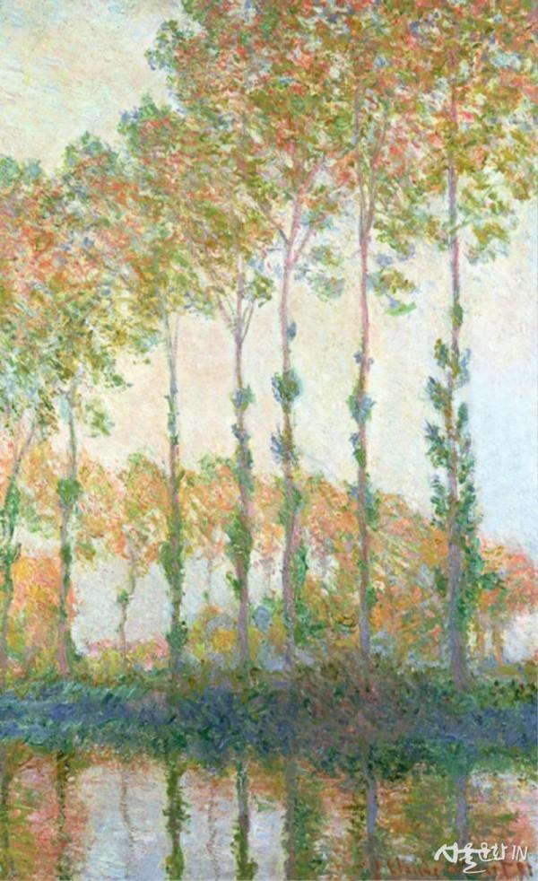 모네, 포플러나무 Poplars on the Banks of the Epte in Autumn.jpg