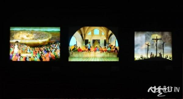 예루살렘 입성(1980), 최후의 만찬(1980), 십자가에 못박히신 예수(1995).jpg