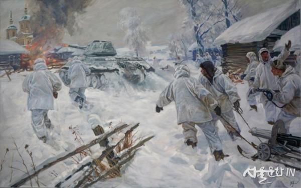 Fayustov 모스크바 근교의 눈 속에서 120x190cm Oil on Canvas 2010.jpg