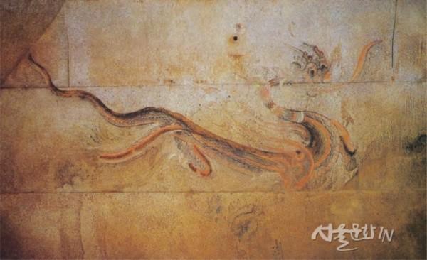 청룡, 강서대묘(江西大墓) 널방 동벽-1.jpg