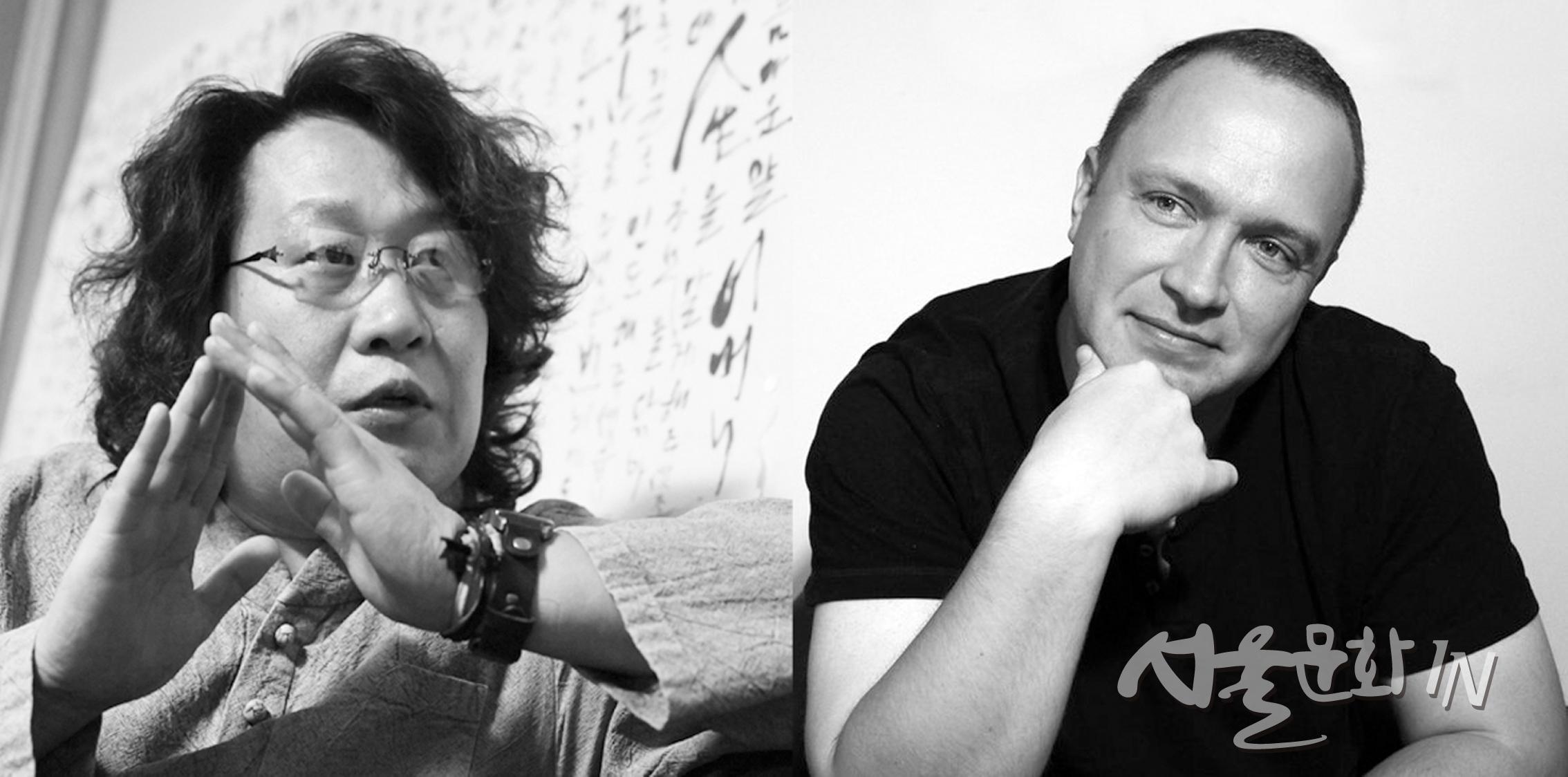 동서양을 대표하는 2명의 캘리그래피, 하나 된 '글씨 그림'으로 만나다