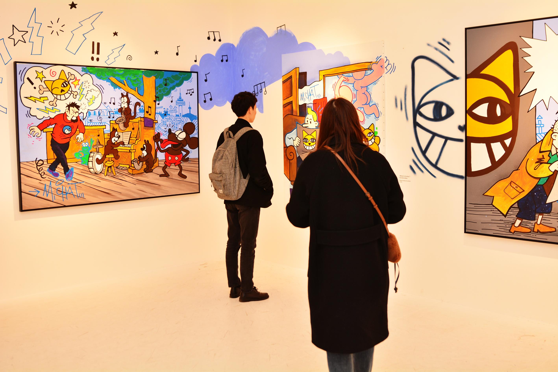 [전시] 한국을 찾은 그래피티 아티스트 토마 뷔유의 웃는 고양이 M.Chat