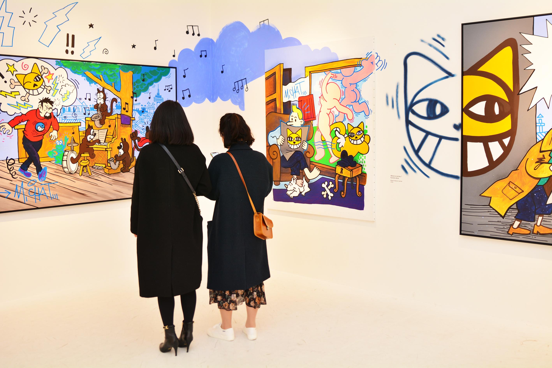 [전시장 스케치] 그래피티 아티스트 토마 뷔유의 웃는 고양이 M.Chat  ②