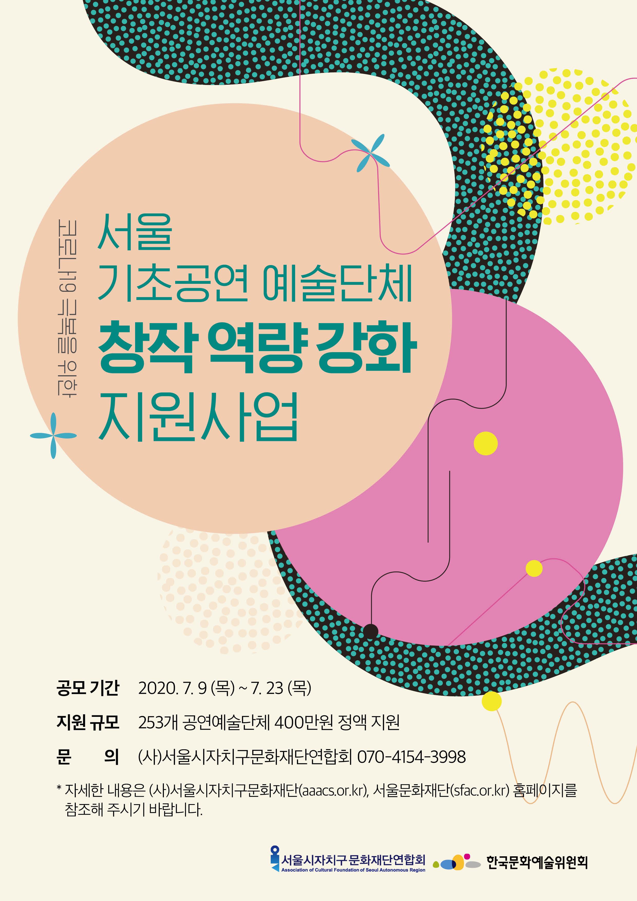 서울문화재단, 기초공연예술단체 창작역량 강화을 위해 10억 원 지원한다.