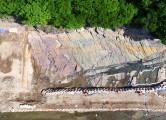 울주 반구대 암각화 주변서 새로운 형태의 공룡발자국 화석 발견.