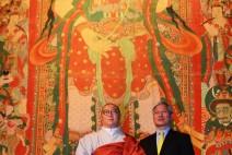 연꽃으로 전하는 가르침, 높이 11m '공주 마곡사 괘불' 국립중앙박물관에서 공개